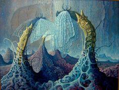 Joep Hommerson. Fantasy Landscape, Landscape Art, Fantasy Art, Georg Christoph Lichtenberg, Magic Realism, Visionary Art, Surreal Art, Light Art, Cool Artwork