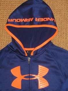 UNDER ARMOUR  UA  BOY'S  SIZE 7   HOODIE BIG  LOGO  FULL ZIP  ROYAL BLUE NEW NWT #UnderArmour #Hoodie