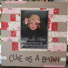 Cute as a Button Scrapbook layout - Stampin' Up!