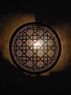 Artisanat Maroc : Appliques murales, Appliques luminaire marocaines en métal