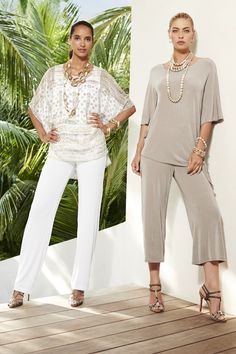 Chico's Travelers Collection: our packable fabric rolls up to fit in your carry-on, but resists wrinkles so you'll look amazing when you get there. Chicos Fashion, 60 Fashion, Fashion Over 50, Plus Size Fashion, Spring Fashion, Fashion Outfits, Womens Fashion, Stylish Older Women, Polo Outfit