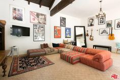 See Inside: Bull Star Michael Weatherly's Hollywood Hills Home for Rent Ncis Stars, Hollywood Hills Homes, Michael Weatherly, Renting A House, Gallery Wall, Bohemian, Home Decor, Decoration Home, Room Decor