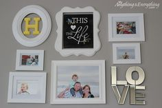 Hometalk :: Gallery Wall Picture Frame Collection
