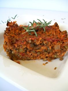 Vegan Rosemary Lentil Loaf. Held together with sweet potato.