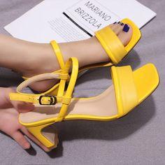 Blue Sandals, Women's Shoes Sandals, Toe Shape, Block Heels, Open Toe, High Heels, Footwear, My Style, Womens Fashion