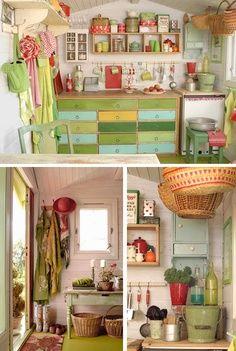 Potting Shed Interiors Love All The Color Garage Garden Design