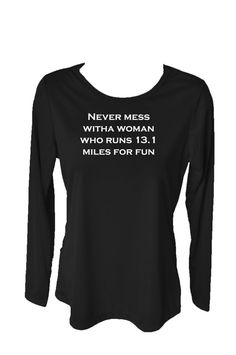 Featherweight half marathon running shirts .....I need one!