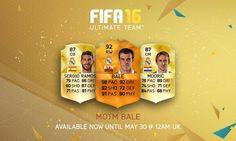 FIFA 16 MOTM Bale for FUT - Orange Man of the Match UEFA Champions League Final Card