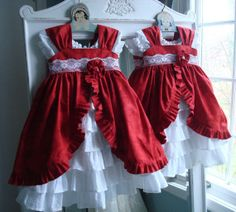 Petticoat and Pinafore PDF Pattern Set, Sizes 6 months through size 8 with room to grow !!!!