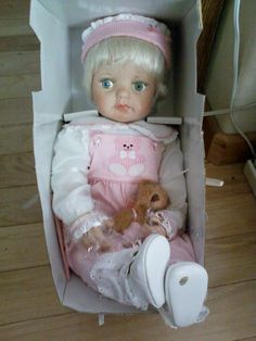 """Paradise Gallery Gentle Touch Vinyl Girl Doll, 22""""Long,Handcrafted--Certificate"""