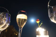 #romance #moonlight #oman #dinner #rose #champagne #wine Rose Champagne, Moonlight, Light Bulb, Romance, Wine, Instagram Posts, Home Decor, Romance Film, Romances