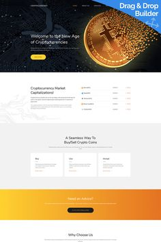 Bitcoin Cryptocurrency Premium Moto CMS 3 Template #65308