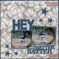 baseball scrapbook layouts | Baseball / baseball Sports Scrapbook Layouts - Bing Images