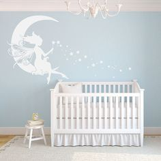 Perfect For A Child S Room Or Adorning An Accent Wall This Charming Fairy Decal Brings