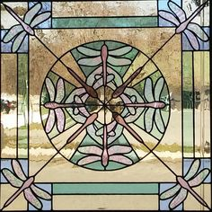 Dragonfly Kaleidoscope Stained Glass Window Panel by HipChickGlass