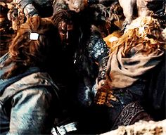 Thorin reaches for Fili and Kili in the Goblin caves and they reach back. <<I LOVE LITTLE MOMENTS LIKE THESE! <3 <3