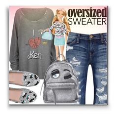 """""""Barbie sweater"""" by simona-altobelli ❤ liked on Polyvore featuring Wildfox, Chiara Ferragni, Current/Elliott, sweaterweather, polyvoreeditorial, polyvorecontest, myfallstyle and 60secondstyle"""