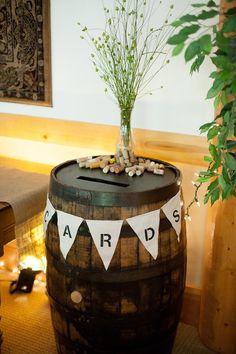 I Like The Idea Of Having A Wine Barrel As Card Receptacle