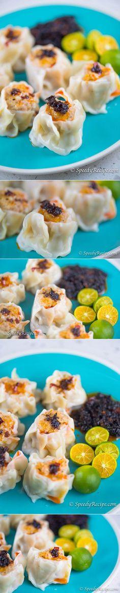 Pork Siomai Recipe (Shumai) - speedyrecipe.com