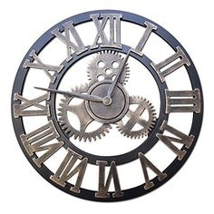 Cheap clock picture, Buy Quality watch wall clock directly from China watch straps for sale Suppliers: 2016 Handmade Gear Wall Clock Retro Gear Large Vintage Wall Clock Wooden Watch Roman Numbers Mirror Wall Clock, Wall Clock Wooden, Wood Clocks, Clock Tattoo Design, Wall Clock Design, Radios, Large Vintage Wall Clocks, Bicycle Tattoo, Clock Decor