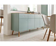 Machen Sie Ihr Wohnzimmer mit Sideboard Dot in Pastellgrün, Eiche zur Wohlfühloase. Entdecken Sie weitere Möbel von TENZO auf >> WestwingNow