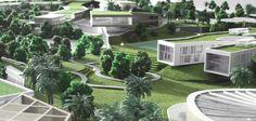 Dubai Sustainable City Sustainable City, Green Architecture, Landscape Design, Dubai, Sustainability, Outdoor Furniture Sets, Gardens, Architecture, Sustainable Architecture