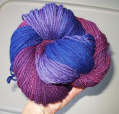 Purple Mystery Wool Yarn Worsted Weight by SunnyhillFiberDreams