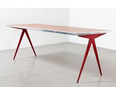 Jean Prouvé Cafétéria no. 512 table, a.k.a Compas table, 1953
