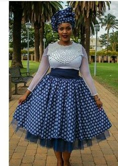 Traditional African clothing & shweshwe dresses All a babe needs is an commodity of Traditional African clothing with the appropriate Sotho Traditional Dresses, African Traditional Wedding Dress, African Fashion Traditional, South African Fashion, Traditional Outfits, Wedding Dresses South Africa, African Wedding Dress, African Print Dresses, African Fashion Dresses