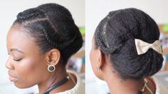 formal updo hairstyle for black women with natural hair