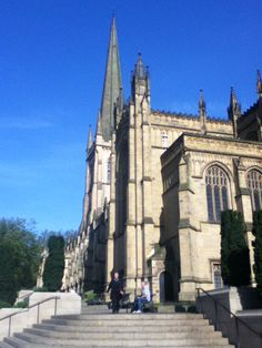 Blue Sky's over Wakefield Cathedral in West Yorkshire - 16/5/2014