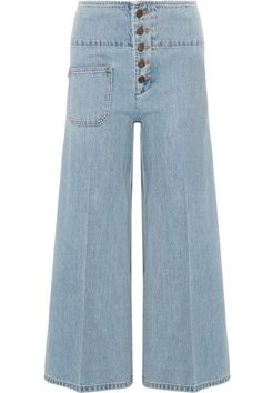 Marc Jacobs - Cropped High-rise Wide-leg Jeans - Light blue - 24