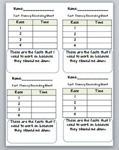 Third Grade Thinkers: Building Math Fact Fluency with Speed Tracks