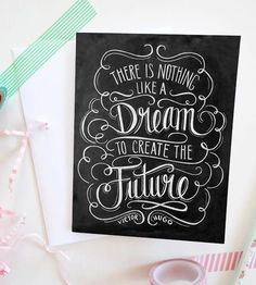 What are you dreaming about today? :: Like A Dream Chalkboard Art Card 8-Pack by Lily & Val