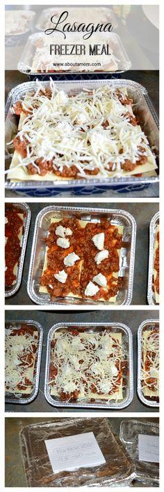 Lasagna Freezer Meal | 25  freezer meal ideas