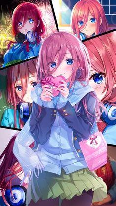 Nakano Miku wallpaper by Yui-Yuiko - Go-toubun no hanayome Anime Collage, Fan Art Anime, Anime Artwork, Anime Art Girl, Otaku Anime, Chica Anime Manga, Manga Kawaii, Kawaii Anime Girl, Style Anime