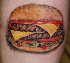 Cheeseburger   Cheeseburger tattoo by ~filthmg on deviantART