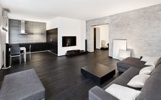 Simple Interior for Modern Minimalist Apartment - decoratoo Black And White Living Room, Drawing Room Interior, Gold Living Room, Luxury Living Room, Home, White Living, Living Room Grey, Home Decor, Room