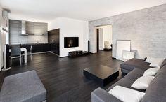 Zwarte plankenvloer