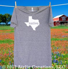 Homeland Tees - #Texas #NATIVE T shirt -more shirt and logo colors available.  A portion of the proceeds goes towards protecting our parks and nature areas. $22.95, via Etsy.