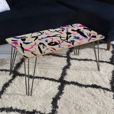 Amy Sia Zest Black and White Coffee Table | DENY Designs Home Accessories