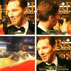 Haha YES! Benedict Cumberbatch wakes up every morning covered in gold. I'd believe it in an instant.