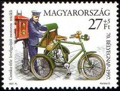 Stamp: 70th Stamp Day - Motorized tricycle (Hungary) (Stamp Day) Mi:HU 4468,Sn:HU B361,Yt:HU 3604
