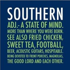 "southern ..."" true except they don't mention on here that  it's only cool enough for the porch in november -june The low of the day doesn't occur till 4am hence 12am =92 degrees and 90%humidity ...southern born and southern by the Grace God but Lord the humidity lol"