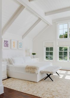 Contemporary White Bedroom by Eche Martinez