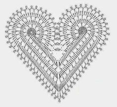 Crochet Lace Heart Motif Free Pattern for Valentine Dress Diagram Red Crochet Dress, Crochet Flower Scarf, Crochet Flowers, Crochet Lace, Crochet Hearts, Crochet Motifs, Crochet Mandala, Crochet Patterns, Dress Patterns