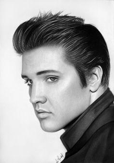 Elvis Presley by artfreakpt - pencil drawing   First pinned to Celebrity Art board here... http://www.pinterest.com/fairbanksgrafix/celebrity-art/ #Drawing #Art #CelebrityArt