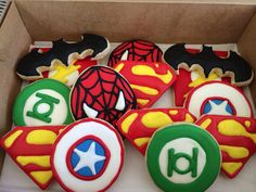 Superhero Cookies One Dozen Spider-Man by CookiesByHannah