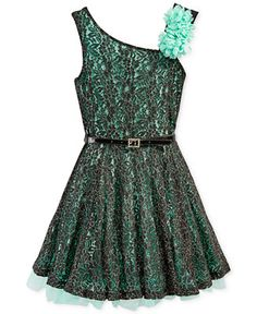 Beautees Girls' Contrast Lace Dress - Kids Girls Dresses - Macy's