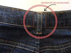 Remodelando e alargando as calças jeans! Sewing Pants, Sewing Clothes, Sewing Projects For Beginners, Sewing Tutorials, Diy Clothes Bag, Altering Jeans, Lace Jeans, Sewing Alterations, Recycled T Shirts